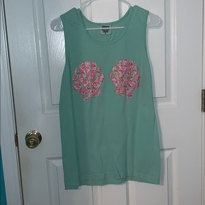 Lily Print Comfort Colors Tank Top